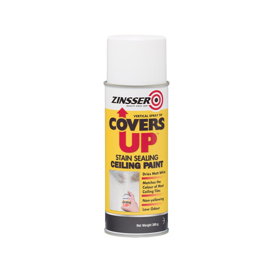 Zinsser Covers Up Stain Sealing Ceiling Paint Aerosol 369G
