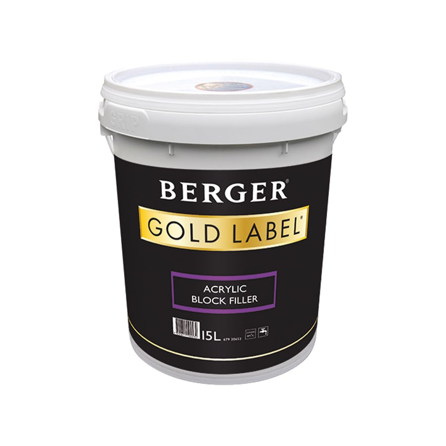 Berger Gold Label Acrylic Block Filler White 15L